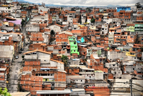 The neighbourhood of Cabucu in Sao Paulo is largely the result of informal urbanization. Photo: R. Rocco 2012.