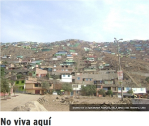 "Figure 2: Photo of Lima in ""No viva aquí"" Source: http://redaccion.lamula.pe/2013/08/20/no-viva-aqui/tecabrera/"