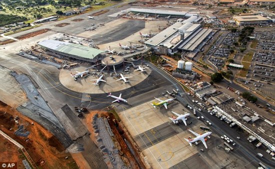 Figure 2: Presidente Juscelino Kubitschek International Airport in Brasilia, April 2014, still under construction (Associated Press)